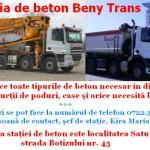 Staţia de beton – BenyTrans produce toate tipurile de beton!